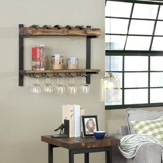 Wine Glass Storage, Wine Rack Storage, Wine Glass Holder, Wine Racks, Bar Shelves, Display Shelves, Wall Shelving, Shelf, Nebraska Furniture Mart