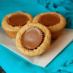 "Peanut Butter Cup Cookies | ""Fail-proof. I followed the directions and everything turned out perfectly. ADVICE: freeze (or put in fridge) unwrapped PB cups - it is easier to press the frozen candy into the hot cookie without falling to pieces. SUPERB!"""