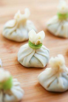 Thirsty For Tea Dim Sum Recipe #10: Shrimp & Asparagus Pouch Dumplings