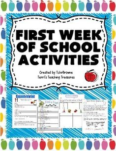 Check out these great activities for the first week of school…