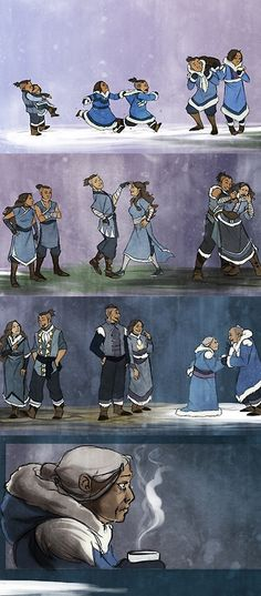 Katara and Sokka - from Avatar: the Last Airbender. So sweet
