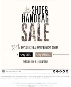 CUSP - Sale - Beautiful Email Newsletters