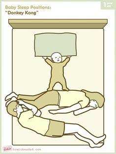 Co-sleeping positions haha, the donkey kong