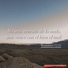 No seas vencido de lo malo, sino vence con el bien el mal. Romanos 12:21 #Jesús #Dios #Padre #EspírituSanto #Evangelio #Biblia #Vida #Amor #Jesusontheweb #Ideas #solovedtheworld