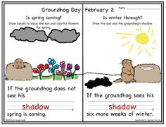 Is spring coming? Is winter through? Groundhog Day is just around the corner. Will Phil see his shadow? Social Studies Activities, Teaching Activities, Holiday Activities, Teaching Ideas, Preschool Groundhog, Groundhog Day Activities, School Themes, School Fun, School Ideas