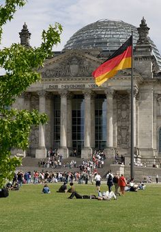 ღღ Reichstag by visitBerlin, via Flickr. The glass dome on the top was added in 1999.