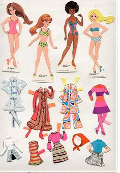 Vintage Whitman/Topper DAWN AND HER FRIENDS paper dolls 1972 cut/Nice! | eBay