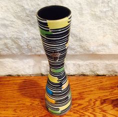 Vintage Striped West German Vase by Jasba Pottery by BobsGoodJunk