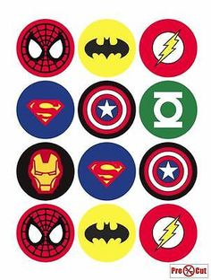 The Avengers Superhero Cupcake Toppers - Batman Printables - Ideas of Batman Printables - 12 rounds per sheet. Ships to US territory only. Avengers Birthday, Superhero Birthday Party, Birthday Parties, Birthday Cupcakes, Superhero Party Favors, Superhero Classroom, Party Cupcakes, Batman Party, Carnival Birthday