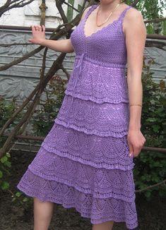 Delicadezas en crochet Gabriela: Vestidos crochet con patrones
