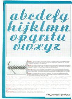 Schema punto croce alfabeti e numeri a punto scritto for Nomi in corsivo gallery