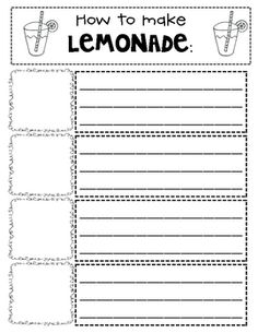 How to Make Lemonade - another writing activity