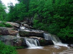 "Chau-Ram Falls (pronounced ""chaw-ram"") is located within Chau-Ram County Park in Westminster. This 40-foot cascading waterfall is the centerpiece of the park, which is often referred to as Oconee County's best kept secret."