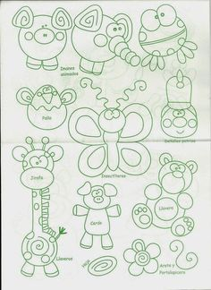 Felt Patterns, Cross Stitch Patterns, Foam Crafts, Diy And Crafts, Decorate Notebook, Sewing Projects For Kids, Chalk Art, Drawing For Kids, Colouring Pages