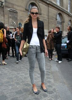 love this outfit. grey scale