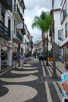 All over this city are these amazing mosaic tile sidewalks! Funchal, Madeira MDC