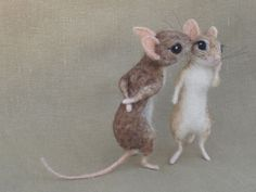Hey, I found this really awesome Etsy listing at https://www.etsy.com/listing/151281954/needle-felted-mouse-couple-112-scale