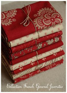 New Quilting Fabric Bundles French General Ideas French General Fabric, French Fabric, Textiles, Sewing Crafts, Sewing Projects, Red And White Quilts, Linens And Lace, Fabric Patterns, Fabric Design