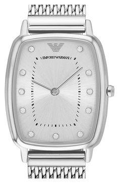 Emporio Armani Mesh Strap Watch, 24mm x 28mm