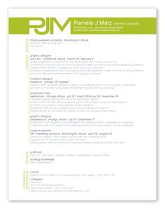 an example of modern and eye catching resume styling that will still