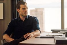 Watch the new trailer for the Fifty Shades of Grey sequel Fifty Shades Darker, starring Jamie Dornan, Dakota Johnson, Kim Basinger, and Eric Johnson. Fifty Shades Of Darker, Fifty Shades Movie, Fifty Shades Trilogy, Christian Grey, Zayn And Taylor Swift, Taylor Swift Songs, Jamie Dornan, Nick Bateman, Fifty Shades Darker