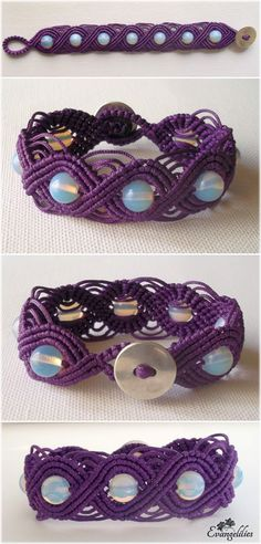 "My ""Moon Child""! Wavy macrame bracelet with moonstones. Another amazing tutorial by Macrame School here: https://www.youtube.com/watch?v=jhOEiVmpbNA"