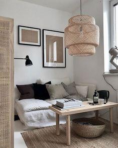 16 Ideas Apartment Decorating Living Room Ikea Pillows For 2019 Ikea Living Room, Living Room Inspiration, Living Room Lighting, Lamps Living Room, Interior, Apartment Living Room, Home Decor, House Interior, Apartment Decorating Living