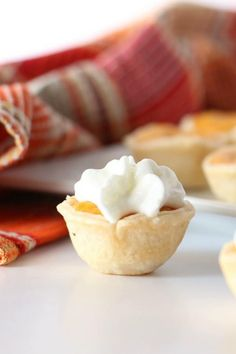 Mini desserts are a popular thing right now! I love these Mini Pumpkin Pie Bites because they're packed with flavor and everyone loves popping one in their mouth to eat! They're a great Fall and Thanksgiving Dessert Idea! Mini Pumpkin Pies, Mini Pies, Mini Pumpkins, Pumpkin Pie Spice, Mini Desserts, Dessert Recipes, Mini Pie Crust, Mini Muffin Pan, Thanksgiving Desserts