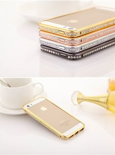 Find More Phone Bags & Cases Information about 2014 New Luxury Bling DIY Handmade Diamond Crystal Gradient Hard Bumper Frame Cases Cover For Apple iphone  5 5G 5S Shell,High Quality Phone Bags & Cases from Shenzhen Riyue Xincheng Technology Co., Ltd. on Aliexpress.com