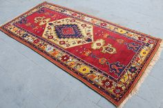 Hey, I found this really awesome Etsy listing at https://www.etsy.com/listing/451499108/turkish-red-runner-rug-carpet-vintage