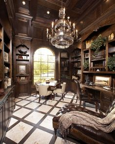 Gorgeous home office or library.