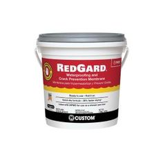 Custom Building Products RedGard 1 Gal Waterproofing Crack Prevention Membrane for sale online Slate Wall Tiles, Mosaic Wall Tiles, Slate Flooring, Marble Wall, Mosaic Glass, Flooring Tools, Basement Flooring, Shower Pan Liner, Courtyards
