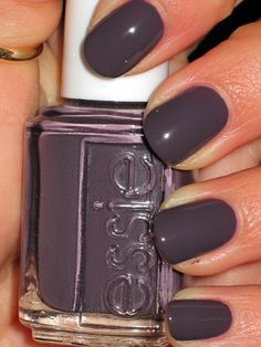 Essie-Marino cool... Sort of a grey/plum... Love it! This nail color is super long wearing! -worth EVERY penny...