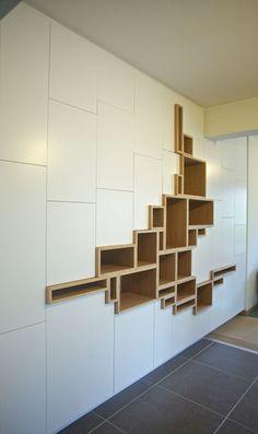 Shelf Design, Cabinet Design, Wall Design, House Design, Home Decor Furniture, Furniture Design, Home Interior Design, Interior Decorating, Dressing Design