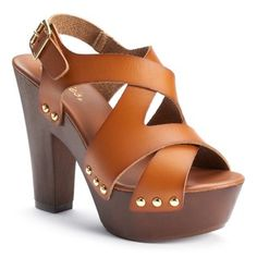 Get your style in step with these women's Candie's heels. Chunky Heel Shoes, Shoes Heels, Strappy Heels, Top Shoes, Cute Shoes, Me Too Shoes, Pointed Loafers, High Heels Plateau, Sandals Outfit