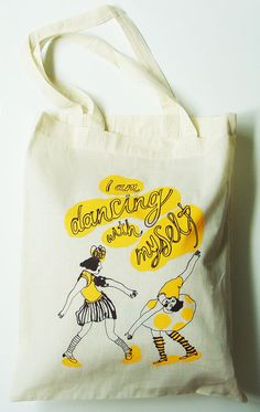 I am dancing with myself - tote bag  $15
