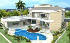 Me llama la atención por la distribución de la churrasqueira, piscina, jardines  y terraza principal