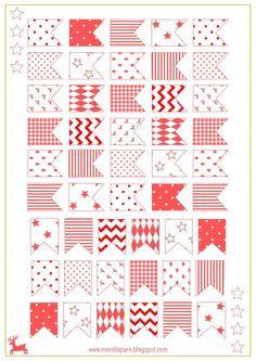 Free printable Christmas flags - ausdruckbare Sticker - freebie | MeinLilaPark – DIY printables and downloads