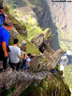 Machu Picchu/Wayna Picchu, Peru Adventurers paradise, Machu Picchu is in Peru. Hikers chose the Inca trail to hike the Machu Picchu. The mountain is full of dangerous treks and pathways. Stairs so old and damaged that it becomes really hard to hike.