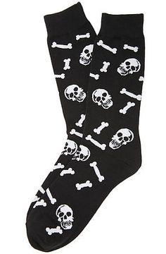 K. Bell Accessories Skull & Bones Socks in Black