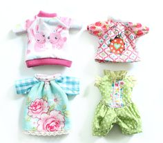 Puppenkleidung aus alten Shirts / Doll's clothes made from old shirts / Upcycling