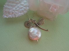 Sterling Silver Dragonfly Necklace by TheButterflyGarden7 on Etsy, $34.00
