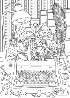 FREE Adult Coloring Pages: 35 Gorgeous Printable Coloring Pages To De-Stress Free adult coloring pages can be a great way to de-stress, especially if you love coloring. Print these out from the comfort of your home to start coloring! Coloring Pages For Grown Ups, Detailed Coloring Pages, Printable Adult Coloring Pages, Cute Coloring Pages, Flower Coloring Pages, Coloring Pages To Print, Coloring Books, Coloring Sheets, Kids Coloring