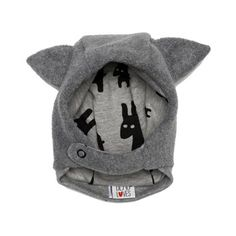 Beau LOves Jersey Lined Grey Fleece Hat With Ears