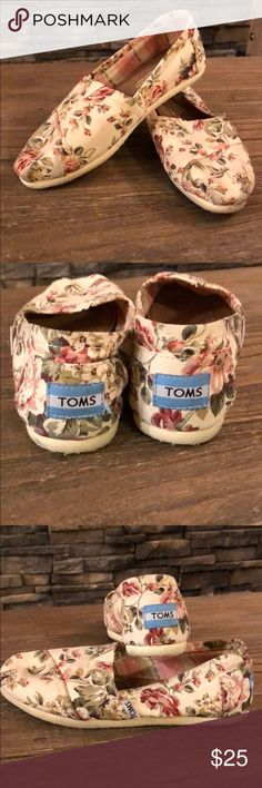 Limited edition Vintage Floral TOMS I love these beauties!! They were limited edition and I was able to snatch them up! Slightly worn but in great conditions! Toms Shoes Slippers