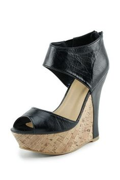 Contrast Cork Wedges use the COUPON CODE 'rachelcamp' for 5% off every order!! http://www.escloset.com/idevaffiliate/idevaffiliate.php?id=115=53