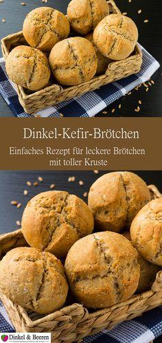 Dinkel Kefir Brötchen Rezept gesund