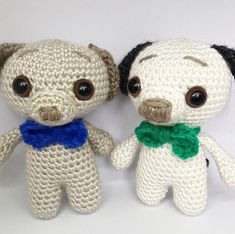 Coupla toys finished and given out for Christmas this year. I do love puppers!