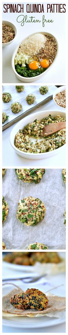 My fav healthy party appetizers or salads toppings! Those Baked Spinach & Quinoa Patties are crispy, made with only 5 ingredients and perfect to add into kids lunchboxes or use into vegetarian burgers.