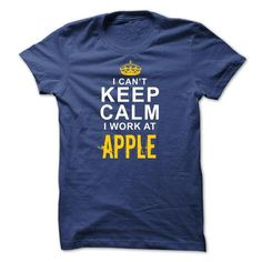 Keep calm I work at Apple - #monogrammed gift #gift exchange. GET => https://www.sunfrog.com/Funny/Keep-calm-I-work-at-Apple-RoyalBlue-3777546-Guys.html?68278